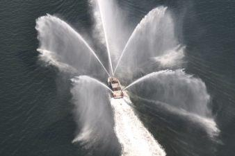 MetalCraft Marine high-speed fireboat fire systems.