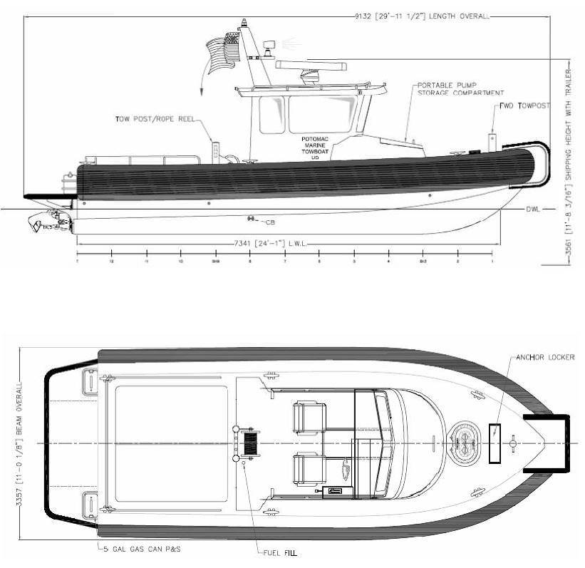 MetalCraft Marine Kingston 2628 RIB drawing