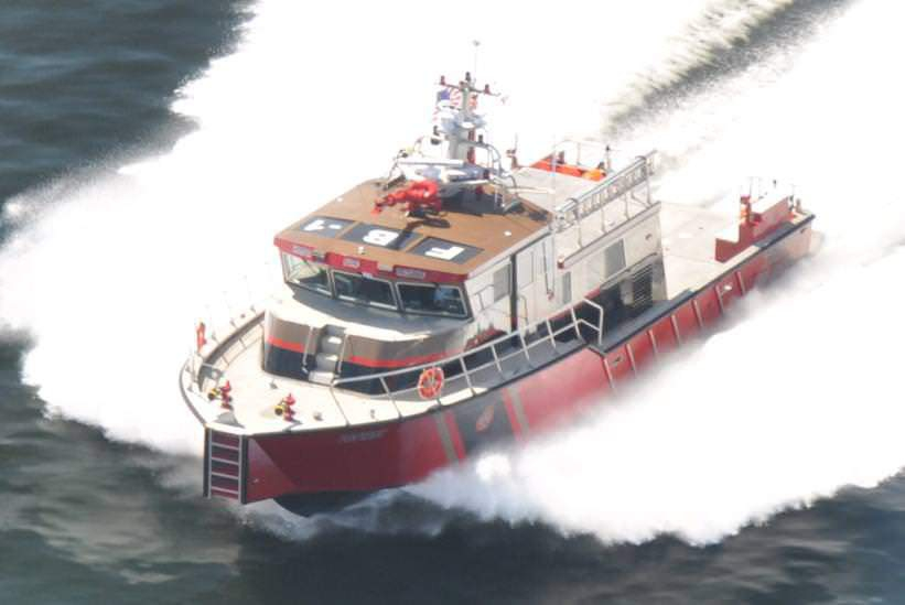 The FireStorm 70 is the most advanced tactical firefighting boat in the world. It's a mobile command centre, a high-capacity pumping machine, a firehouse, and a primary patient care unit all in one package.