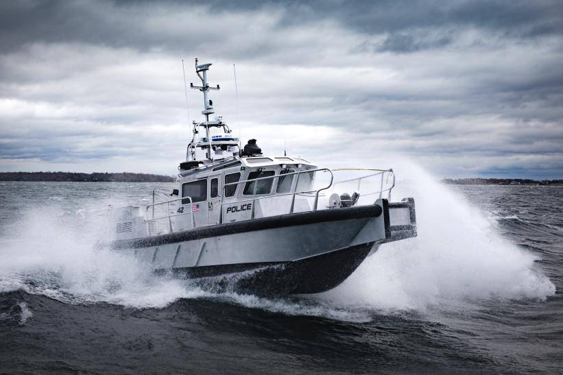 LA Port Police in rough water sea trials